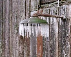 Icy daggers in the shower?