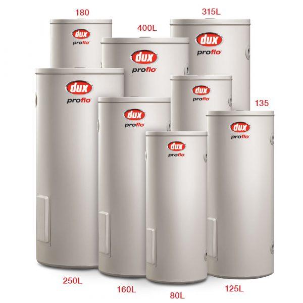 Dux Hot Water Cylinders Range