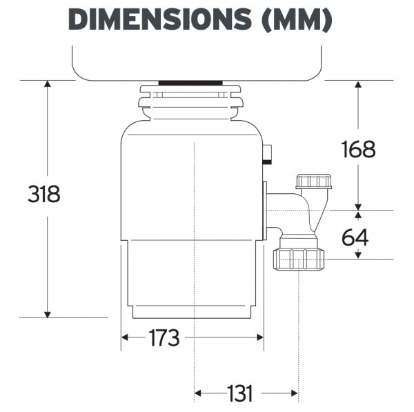 InSinkErator Model 56 Dimensions