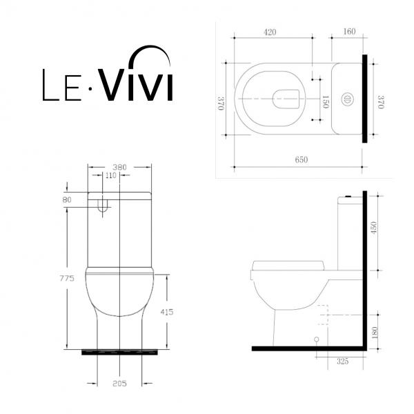 LeVivi Brooklyn BTW toilet technical drawing